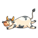 Lawn care Cow sliding down