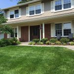 Rent a crew project with green lawn care fertilization grass