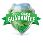 Good Grass Guarantee Shield for aeration and seeding logo